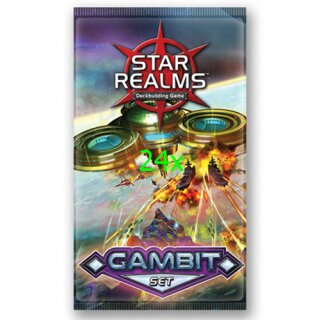 Star Realms Deckbuilding Game - Gambit Expansion Booster Display - Deutsch