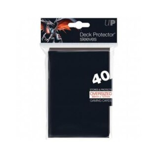 Ultra Pro - Oversized Top Loading Sleeves - Black (40 Sleeves)
