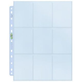 Ultra Pro - Platinum 9-Pocket Pages (11 Hole) Display (100 Pages)