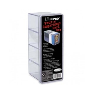 Ultra Pro - 4-Compartment Card Storage Box - Clear