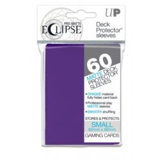 UP - Small Sleeves - PRO-Matte Eclipse - Royal Purple (60 Sleeves)s)