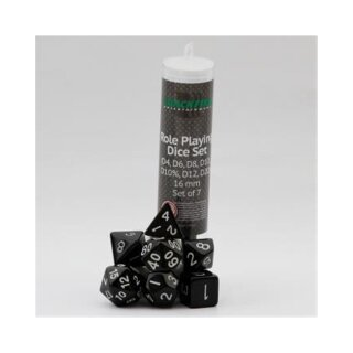 Blackfire Dice - 16mm Role Playing Dice Set (7 Dice)