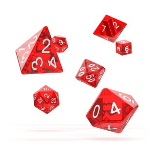 Oakie Doakie Dice RPG Set Translucent (7) -