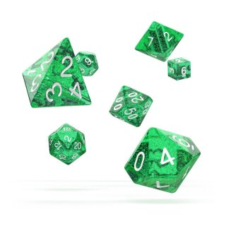 Oakie Doakie Dice RPG Set Speckled (7) - Green