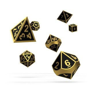 Oakie Doakie Dice RPG Set Metal Dice (7) -