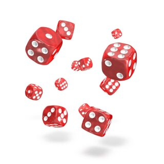 Oakie Doakie Dice D6 Dice Marble - Red 12 mm (36 Dices)