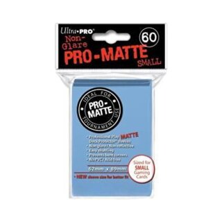 Deck Protector Pro-Matte Light Blue - 60 Small Size Sleeves