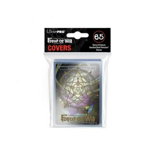 Deck Protector Sleeve Covers - Force of Will - Gold Magic Circle with Moonbreezes Memoria Promo (65)