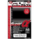 KMC Standard Sleeves - Super a (Alpha) Black (80 Sleeves)