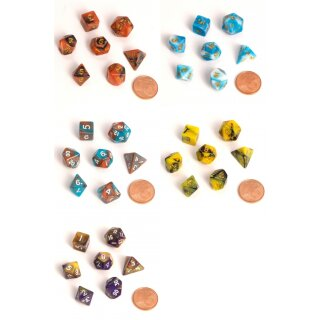 Blackfire Dice - Fairy Dice RPG Set - BiColor (7 Dice) -