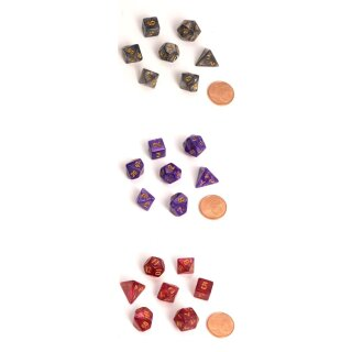 Blackfire Dice - Fairy Dice RPG Set - Marbled (7 Dice) -