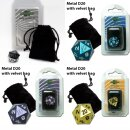 Blackfire Dice - D20 Metal with velvet bag -