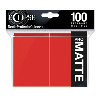UP - Standard Sleeves - PRO-Matte Eclipse (100 Sleeves) - Apple Red