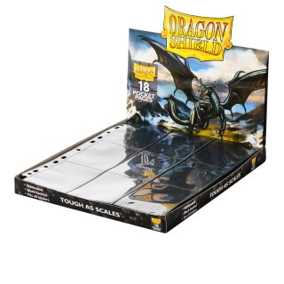 Dragon Shield 18-Pocket Clear - Sideloader Pages Display (50 Pages)