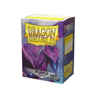 Dragon Shield Standard Sleeves - Matte Non-Glare (100 Sleeves) - Purple