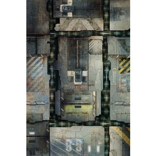 Playmats.eu - Space Station Deck rubber Play Mat - 72x48 inches