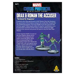 Marvel Crisis Protocol: Drax and Ronan The Accuser - Englisch