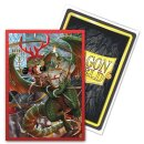Dragon Shield Brushed Art Sleeves - Christmas Dragon 2020...