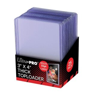 Ultra Pro - Toploader - 3 x 4 Thick Clear Regular (25 pieces)