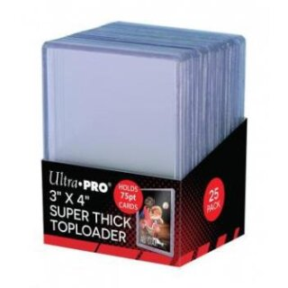 Ultra Pro - 3 x 4 Thick 75PT Toploader (25 Pieces)