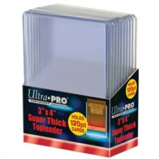 Ultra Pro - 3 X 4 Super Thick 120PT Toploader (10 Pieces)