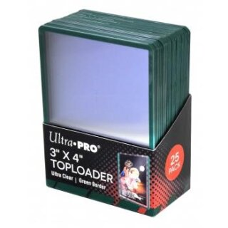 Ultra Pro - Toploader - 3 x 4 Green Border (25 pieces)