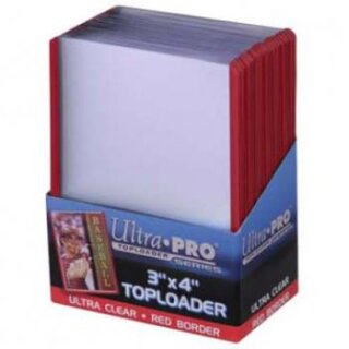 Ultra Pro - Toploader - 3 x 4 Red Border (25 pieces)