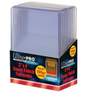 Ultra Pro - Toploader - 3 x 4 Super Thick 130PT (10 pieces)